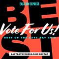 Vote For Us!  2018 EBX Best of the East Bay!